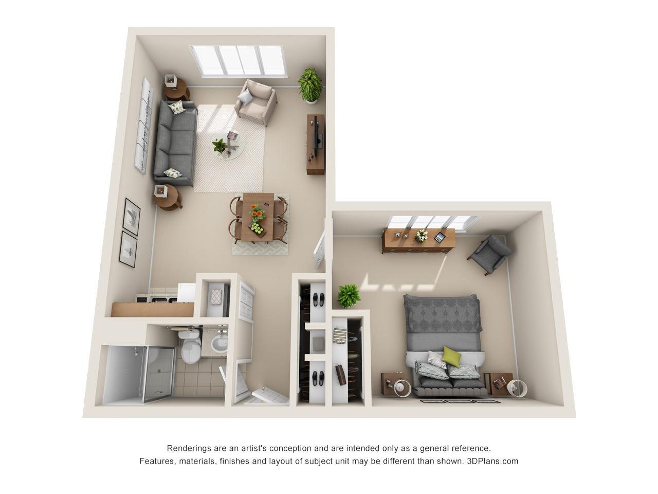 3D SH 1 Bed 600